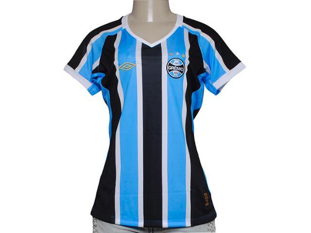T-shirt Feminino 3g00010 Grêmio Oficial i 2015 Tricolor