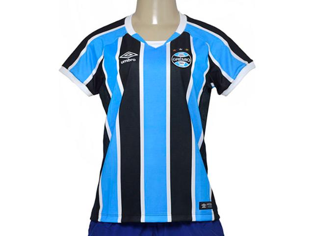 Camiseta Feminina Grêmio 3g00049 Tricolor