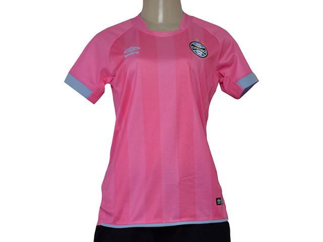 Camiseta Feminina Grêmio 3g160304  Comemorativa Outubro 2017 Rosa/azul