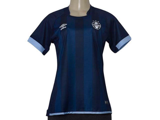 Camiseta Feminina Grêmio 3g160269 Of3 2017/18 Marinho/azul