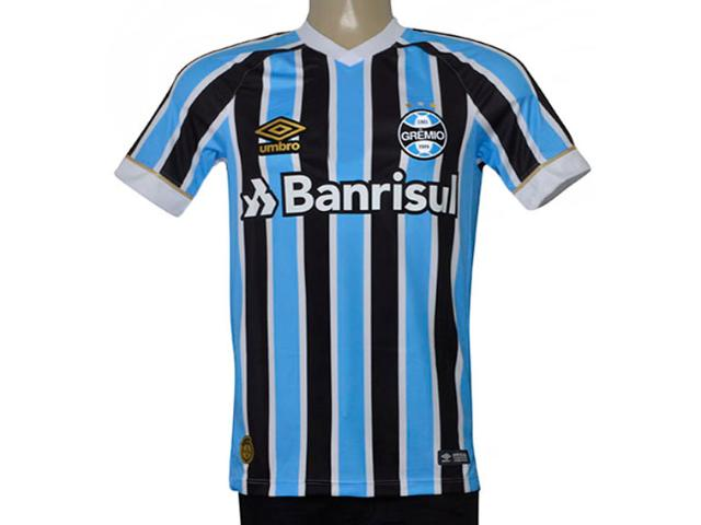 Camiseta Masculina Grêmio 3g160335 Of.1 2018 Game Tricolor