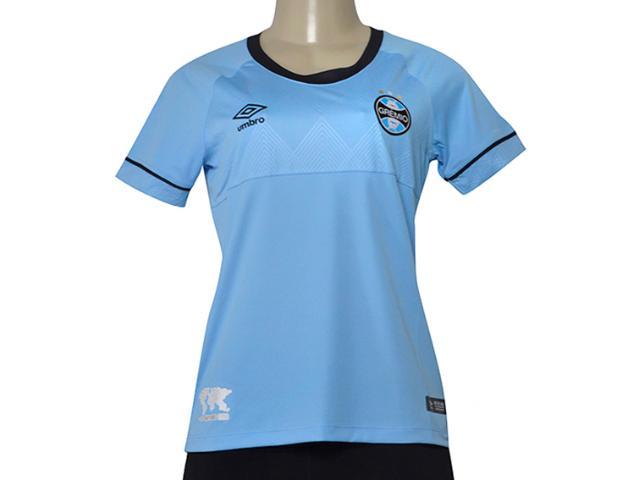 Camiseta Feminina Grêmio 3g160515 of Charrua 2018 Azul/preto/branco