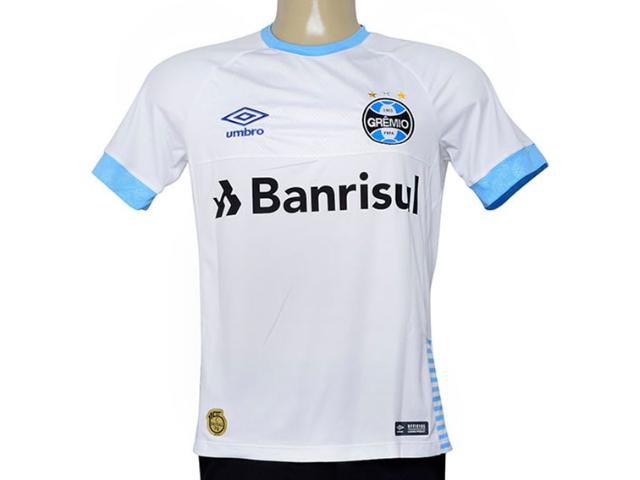 Camiseta Masculina Grêmio 3g160653 Of.2 2018 Fan c/ Num 7 Branco/azul
