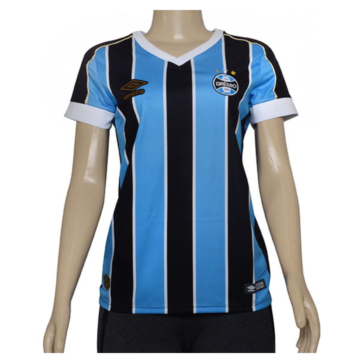 Camiseta Feminina 3g160782 Grêmio Of.1 2019 Tricolor