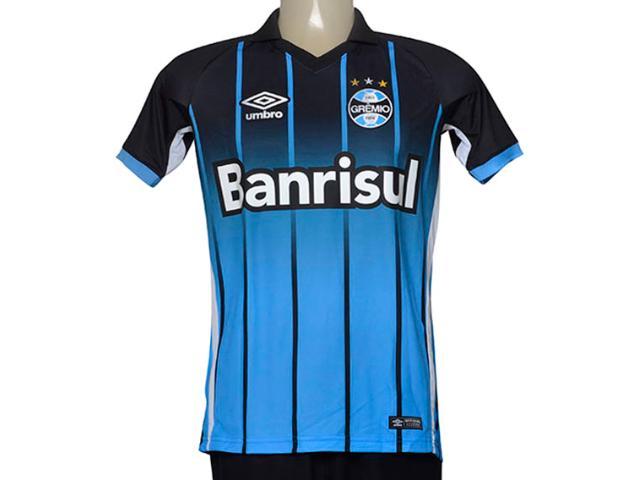 Camiseta Masculina Grêmio 3g00061 of 2016 Fan Azul/preto