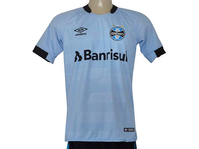 Camiseta Masculina Grêmio 3g160095 of 2 2017 Fan Celeste/preto