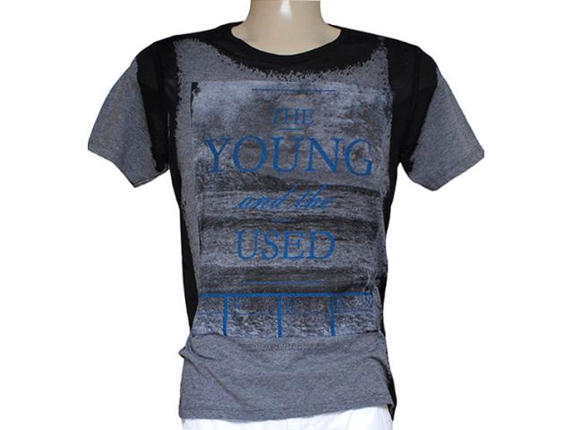 Camiseta Masculina Index 08.02.000239 Preto Estampado