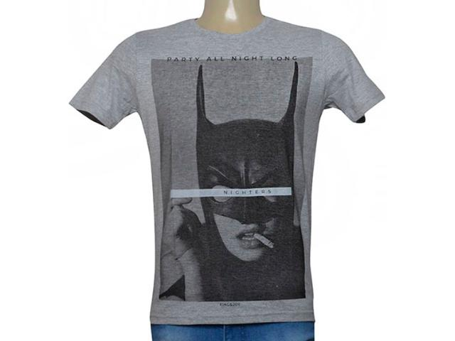 Camiseta Masculina King & Joe Ca09006 Mescla