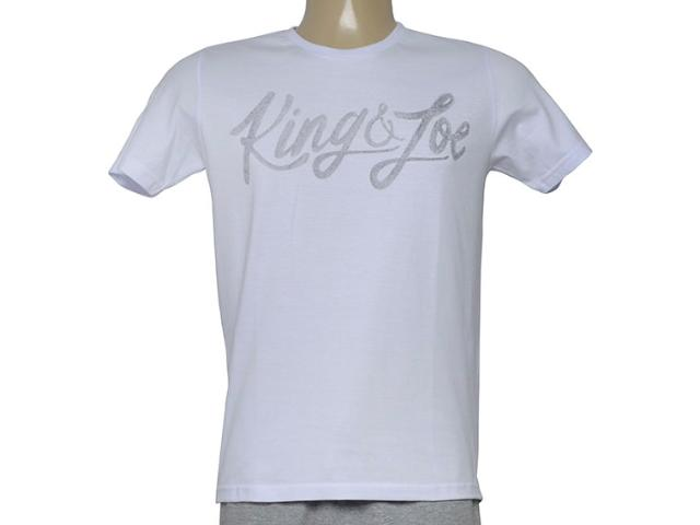 Camiseta Masculina King & Joe Ca09026 Branco