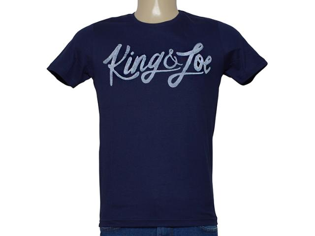 Camiseta Masculina King & Joe Ca09026 Marinho