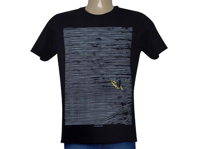 Camiseta Masculina King & Joe Ca09211 Preto/cinza