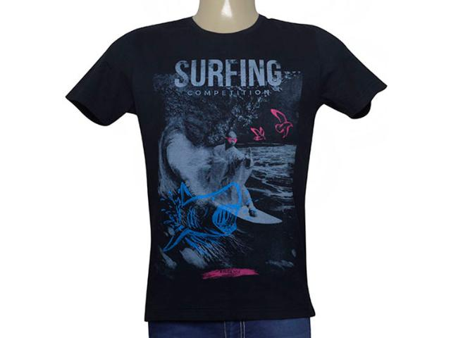Camiseta Masculina King & Joe Ca09004 Preto