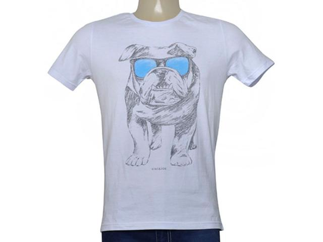 Camiseta Masculina King & Joe Ca09013 Branco