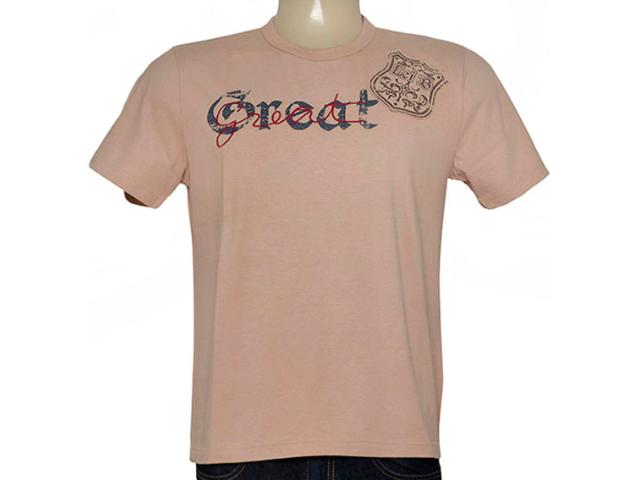 Camiseta Masculina Lei Básica Hl1061-19 Khaki