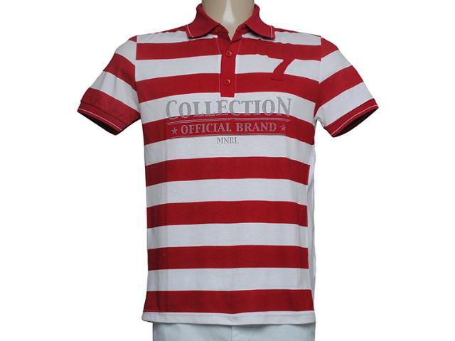 Camiseta Masculina Mineral 92738 Listrado Vermelho