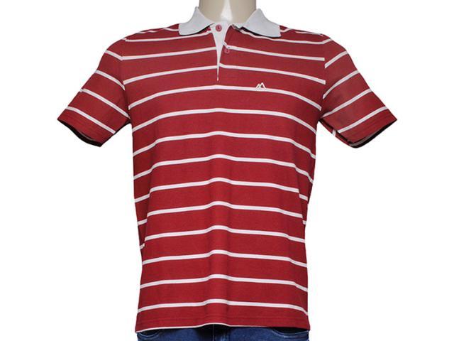 Camiseta Masculina Mineral 98574 Listrado Vermelho