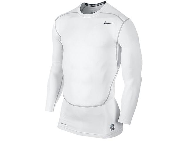 Camiseta Masculina Nike 449794-100 Core Compression ls Top 2.0 Branco