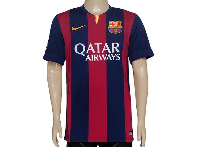 Camiseta Masculina Nike 610594-422 Fcb h a gk Stadium Otc Bordo/marinho