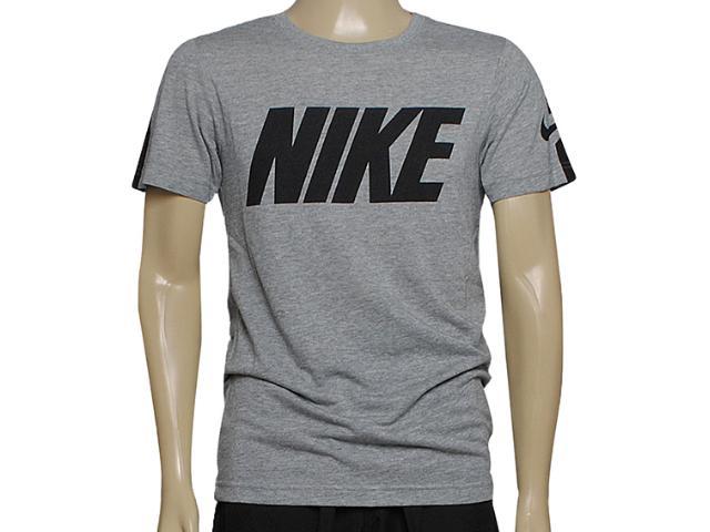 Camiseta Masculina Nike 614793-064 Blindside Top-swoosh Plus Mescla/preto