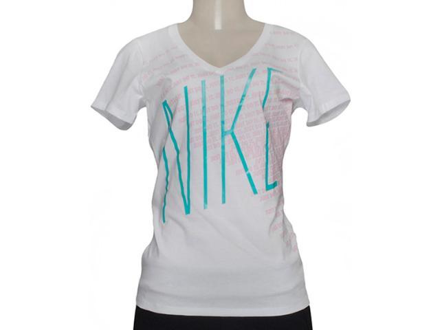 Camiseta Feminina Nike 632032-100 Tee Mid v Branco