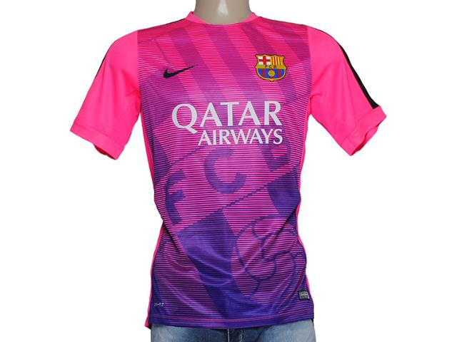 Camiseta Feminina Nike 643550-640 Fcb Squad Rosa/roxo