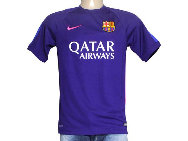 Camiseta Masculina Nike 643549-548 Fcb Squad Roxo