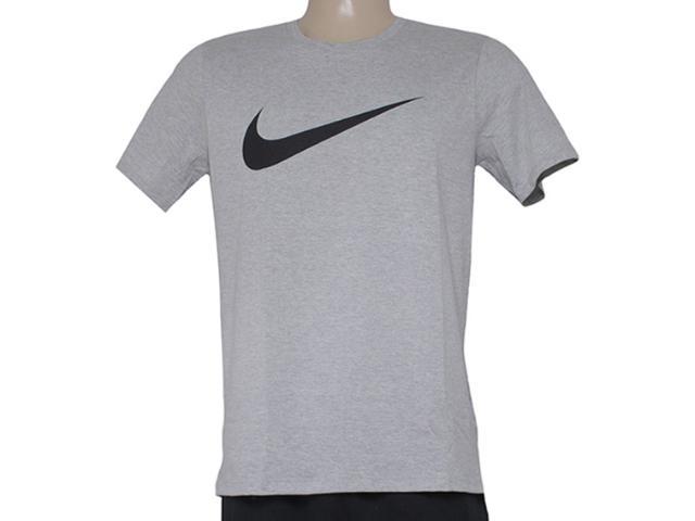 Camiseta Masculina Nike 696699-063 Tee-chest Swoosh  Cinza