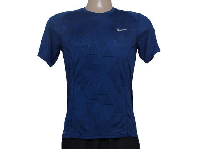 Camiseta Masculina Nike 683529-480 df Miler Optical ru  Azul/preto