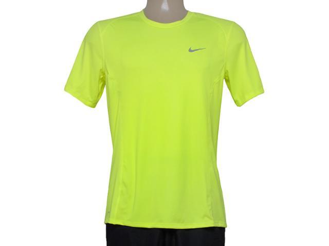 Camiseta Masculina Nike 683527-702 df Miler ss  Limão