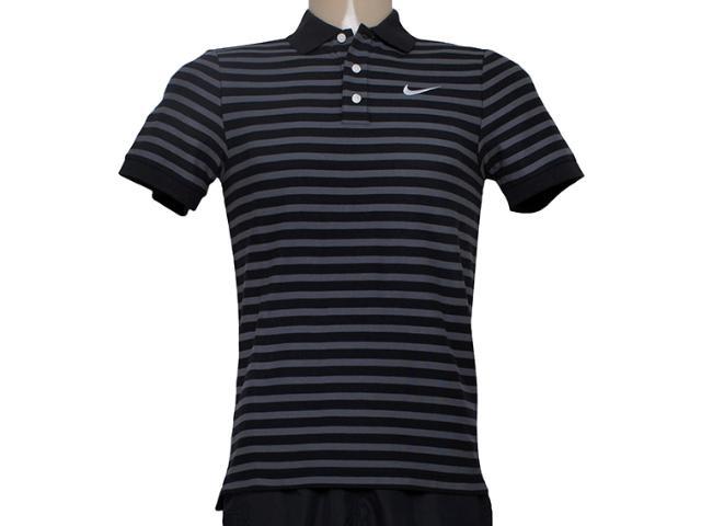 Camiseta Masculina Nike 679689-011 Matchup Listrado Preto/cinza