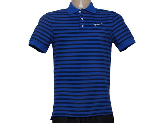 Camiseta Masculina Nike 679689-480 Matchup Listrado Azul/preto