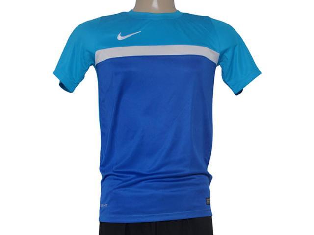 Camiseta Masculina Nike 651379-407 Academy Trainng  Royal/azul