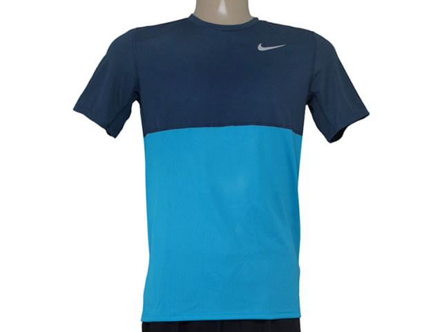 Camiseta Masculina Nike 644396-407 Racer ss  Marinho/azul
