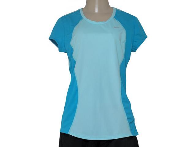 T-shirt Feminino Nike 645443-437 Racer ss Top  Azul