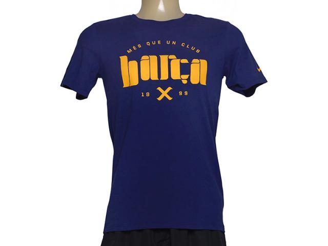 Camiseta Masculina Nike 689678-421 Fcb Core Type  Marinho