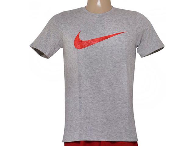 Camiseta Masculina Nike 779690-063 Tee-palm Print Swoo Cinza