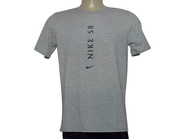 Camiseta Masculina Nike 875337-063 m nk sb Dry Tee Dfc Cinza