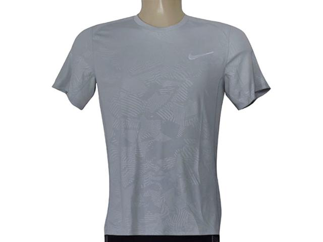 Camiseta Masculina Nike 858157-012 m nk Dry Miler ss Cinza