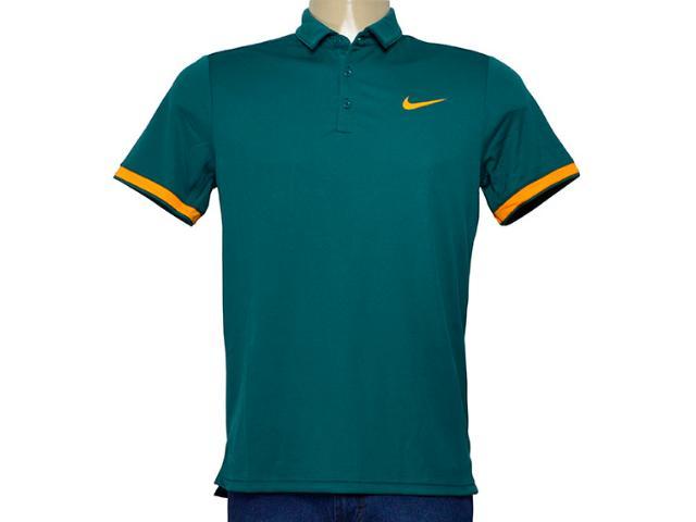 Camiseta Masculina 830849-303 Nikecourt Dry Tennis Polo Verde Escuro