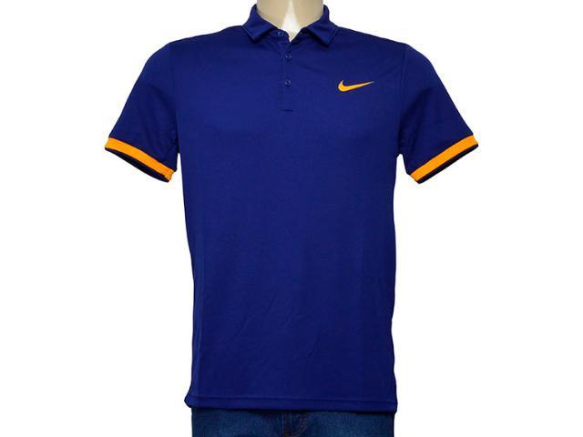 Camiseta Masculina 830849-492 Nikecourt Dry Tennis Polo Azul Escuro