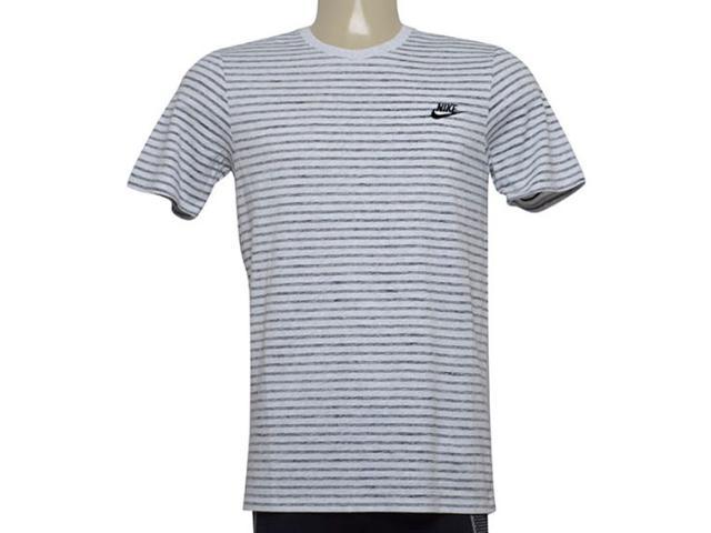 Camiseta Masculina Nike 927456-051 m Sportswear Off White Listrado