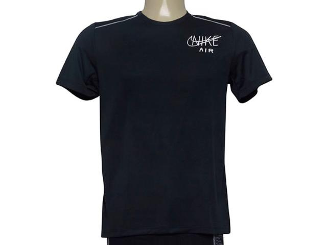 Camiseta Masculina Nike At7840-010 Dri-fit Miler Preto