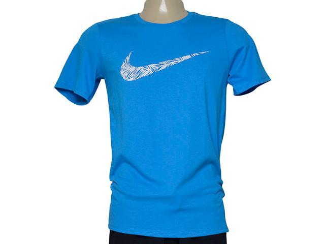 Camiseta Masculina Nike 779690-435 Tee-palm Print Swoo  Azul
