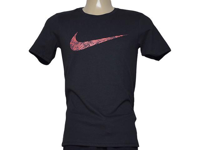Camiseta Masculina Nike 779690-010 Tee-palm Print Swoo  Preto