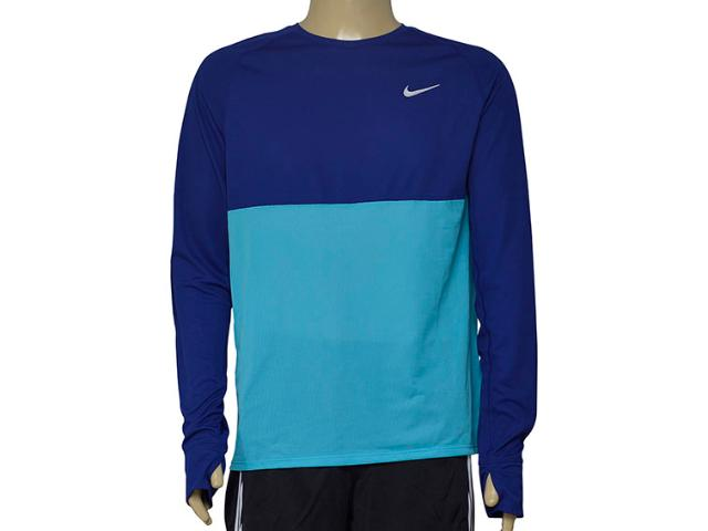 Camiseta Masculina Nike 683574-455 Fit Racer Royal/azul