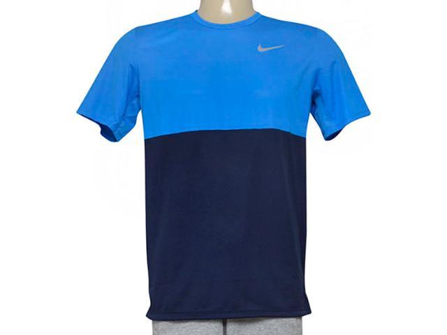 Camiseta Masculina Nike 644396-451 Racer ss  Azul/marinho