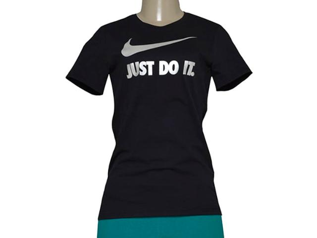 Camiseta Feminina Nike 685518-017 Tee-jdi Swoosh Crew Preto