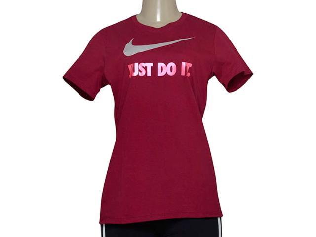 Camiseta Feminina Nike 685518-620 Tee-jdi Swoosh Crew  Vinho