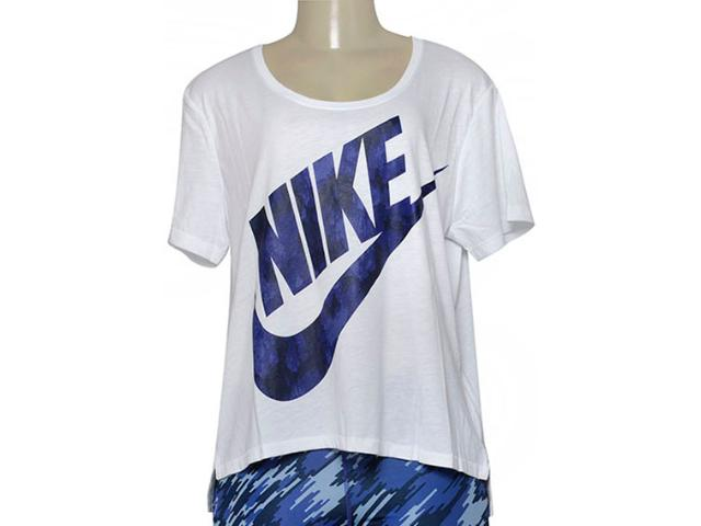 Camiseta Feminina Nike 843985-100 w Nsw Top gx Branco