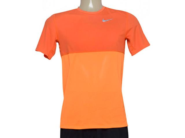 Camiseta Masculina Nike 644396-810 Racer ss Laranja Neon